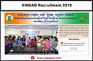 NIHSAD Recruitment 2019: National High Security Veterinary Institute Invites Application for Junior Research Fellow, ...