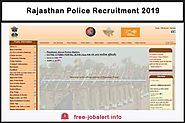 Rajasthan Police Recruitment 2019: RJ Police will Recruit 1,000 SI and 11,000 Constable in the coming months - FREEJo...