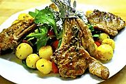 mutton potato chops Food lover's mutton potato chops