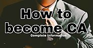 How to become CA in India - Startup ideas - Startup idea | Creative Business ideas | Career plans