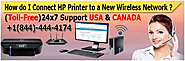 How do I Connect HP Printer to a New Wireless Network ?