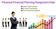 Best Personal Financial Planning Assignment Help by Professional Writers