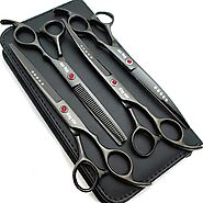 Ubuy Belgium Online Shopping For Dog Grooming Scissors Sets in Affordable Prices.