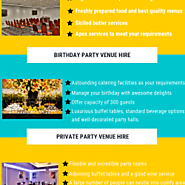 Meeting and Events Venues' Services