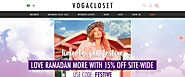 VogaCloset Ramadan Sale - 50% Off + Extra 15% Off on Orders Over $50 & Free Shipping