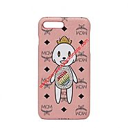 MCM Visetos x Eddie Kang iPhone Case in Light Pink