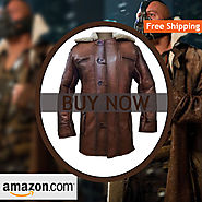 Tom Hardy Brown leather Bane Coat