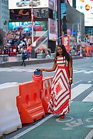 My Colorful Summer Maxi Dress in Manhattan