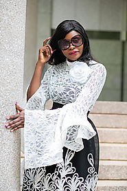 A Versatile Exaggerated Bell Sleeve Lace Top