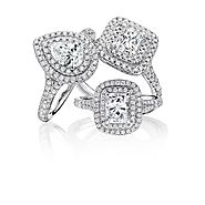 Halo diamond Engagement Rings Glasgow | Bejouled