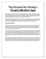 Top Reasons for Having a Couple Monitor App
