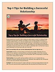 Top 4 Tips for Building a Successful Relationship