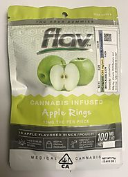 Flav Cannabis Infused Apple Rings | Cannabis Gummy Edibles