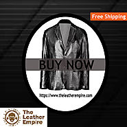 Black Blazer Leather Mens Coat