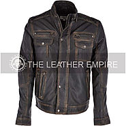 ASHWOOD Seven Pocket Leather Biker Jacket |UK|TheLeatherEmpire