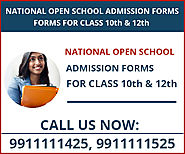 National Open School Admission Form 2020 Class 10th, 12th-Open Board Delhi