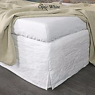 Slitted Corner Linen Bed Skirt