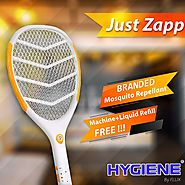 Hygiene JUST-ZAPP Mosquito Killer Racket Rechargeable Bat Mosquito Racket for Home BRAND: Hygiene - Hygiene Air Products