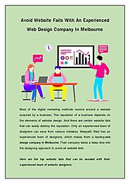 Avoid Website Fails With An Experienced Web Design Company in Melbourne