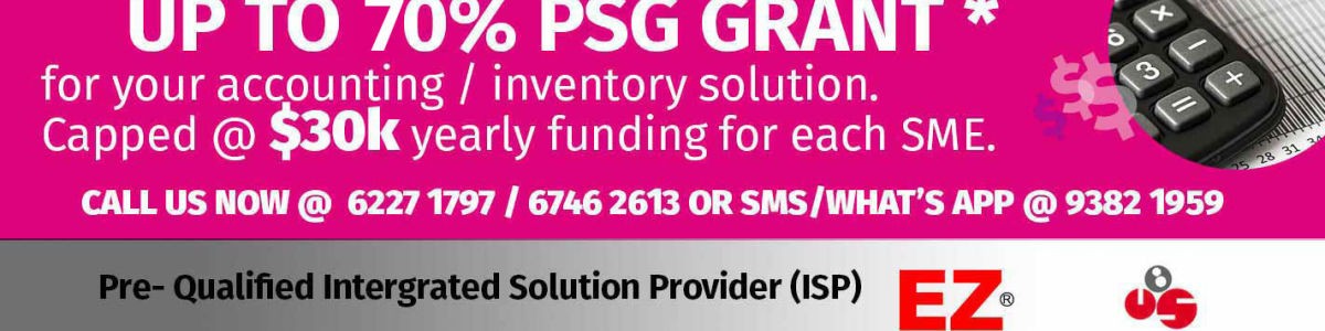 Headline for Singapore Productivity Solutions Grant Software