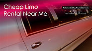 Cheap Limo Rental Near Me - (800) 942-6281 | Visual.ly