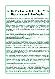 Get On The Positive Side Of Life With Hypnotherapy In Los Angeles