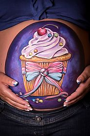 Cup cake belly art