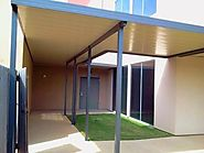 Aluminum flat pan patio covers are an excellent choice for budget minded customers and office building shade. Insulat...