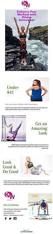 Enhance Your Workout with Pilates Clothes for Women | KDW Apparel