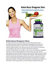 Keto Buzz Dragons Den | Keto Buzz Reviews