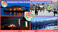 Honeymoon Tour to Exotic Destinations in India