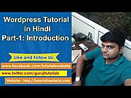 Wordpress Tutorials for Beginners in Hindi | Tutorials Website