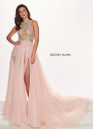 Sheer Shorts W/ Overlay Pageant Dresses in Pink Color | Style - 5055