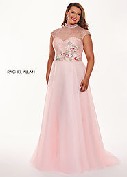 High Neckline A-Line Curves Dresses in Pink Color | Style - 6661