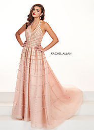 Halter A-Line Pageant Dresses in Pink Color | Style - 5058