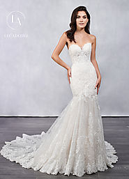 Strapless Mermaid Bridal Dresses in White Color | Style - M681