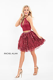 Strappy A-Line Homecoming Dresses in Red Color | Style - 4592