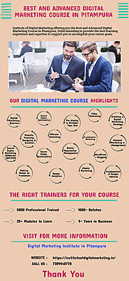 Advanced Digital Marketing Course in Pitampura | Infographic