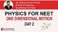[Day 2]NEET Physics- Video Lecture On Velocity, Equation of Motion by Pawan Sir | Kaysons Education