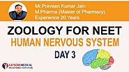 [Day 3] NEET Zoology-Video Lecture on Central Nervous System by Praveen Kumar Sir -Kaysons Education