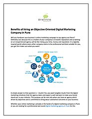 Benefits of hiring an Objective Oriented Digital Marketing Company in Pune