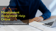 Best Management Assignment Help with Experts