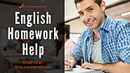 Annex the Professional Help in your English Homework