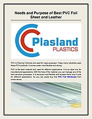Needs and Purpose of Best PVC Foil Sheet and Leather