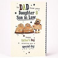 """Happy Fathers Day Greetings"" Cards, Messages from Daughter / Son"