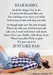 10^ Happy Fathers Day Poems from Son / Daughter & Wife / Girlfriend