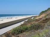 Carlsbad Seawall Walk, Carlsbad CA - Boardwalk, Seawall, Beach