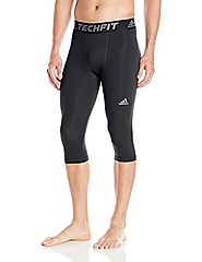 adidas Men's Training Techfit 3/4 Tights, Black, Medium