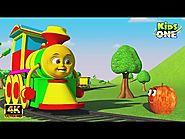 kids Rhymes: Fruit Train ఫ్రూట్ ట్రైన్ Fun Learning Names of Fruits for Children KidsOneTelugu