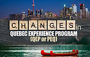 Changes in Quebec Experience Program (QEP or PEQ)